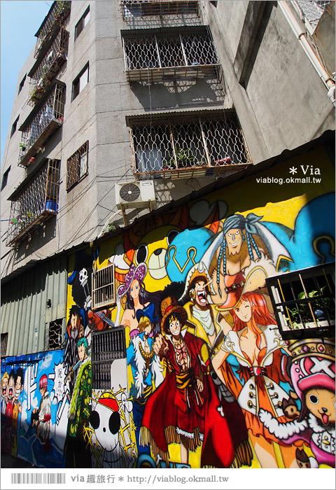 【台中海賊王彩繪】台中新遊點!小巷裡出現海賊王彩繪牆~ONE PIECE迷必訪!3