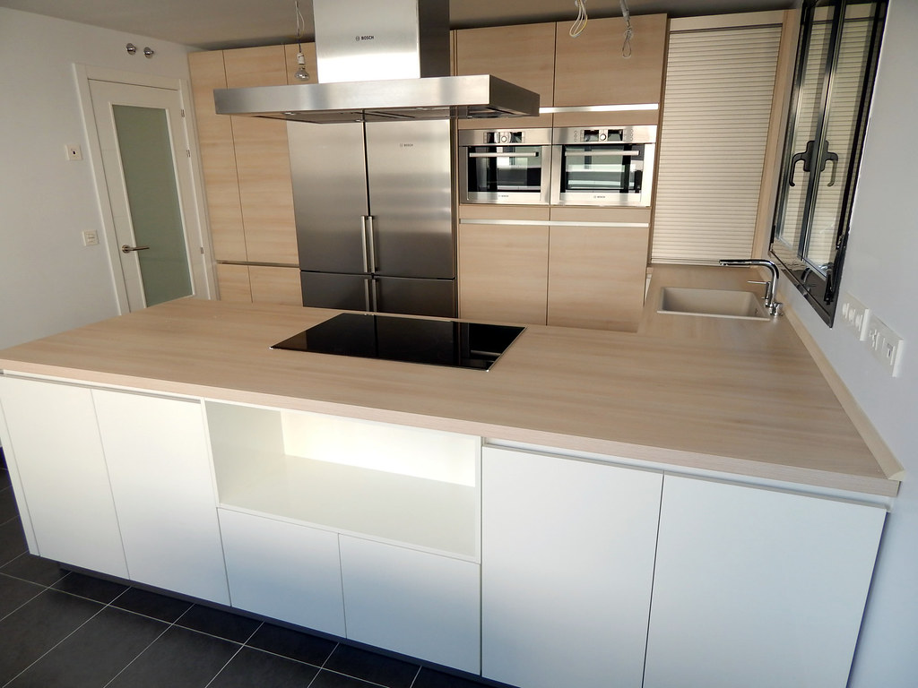 muebles de cocina blanco alto brillo