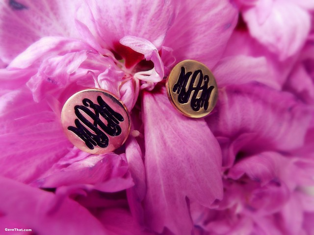 oNecklace Monogrammed Earrings