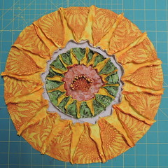 Back of Hand-pieced Sunflower Circle