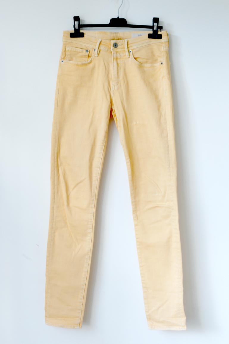 geel skinny jeans h&m zomerbroek