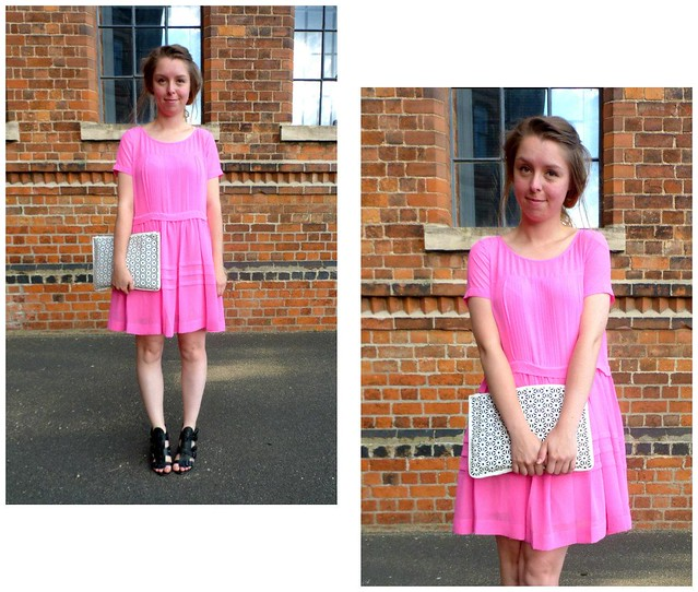 Pink French Connection smock dress