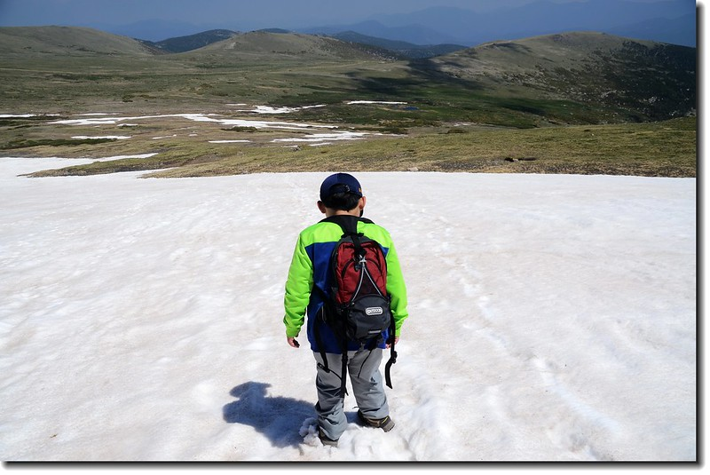 Jacob is passing the snowfield