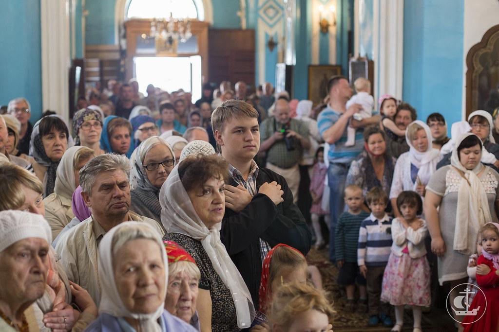 """6 июля 2014, Литургия в Троицкой церкви """"Кулич и пасха"""""""