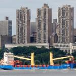 BBC Chartering KIBO Cargo Ship on the Hudson River, New York City