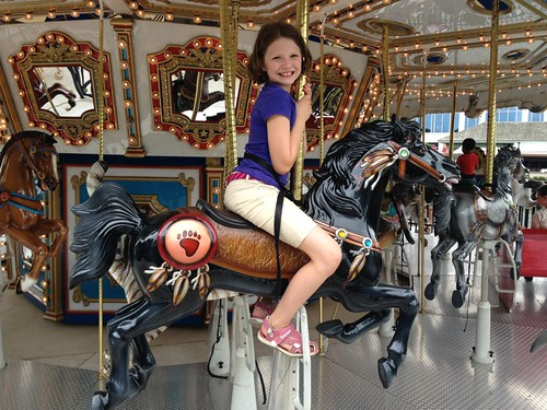 Meg on Carousel '14