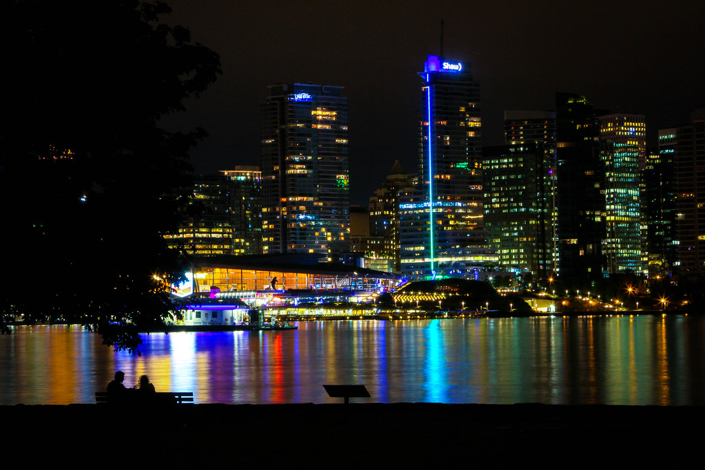 Downtown Vancouver at Night from Stanley Park