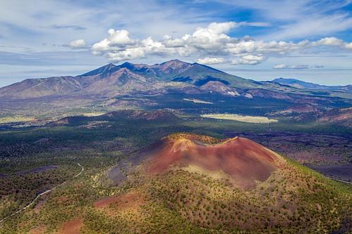 arizona flagstaff aerialphotography lambada sunsetcrater sanfraniscopeaks