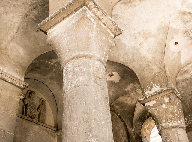 Clocher-porche (XIIe-XIXe s.) de l'abbatiale Saint-Léger d'Ébreuil (Allier, France)