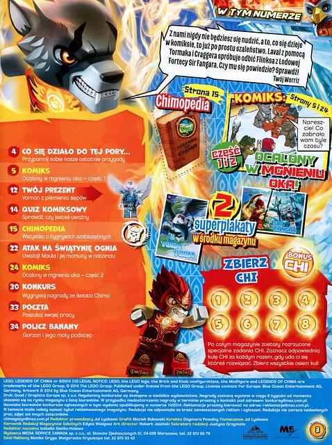 LEGO Legends of Chima Oficjalny Magazyn 2014-08 03