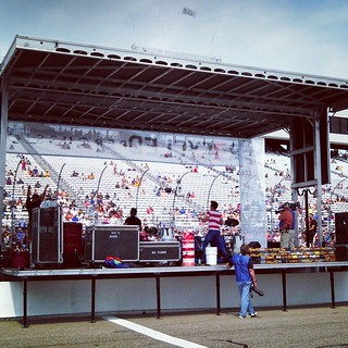 Recycled Percussion pre-race yesterday at #NHMS #RecycledPercussion #NASCAR #newhampshire