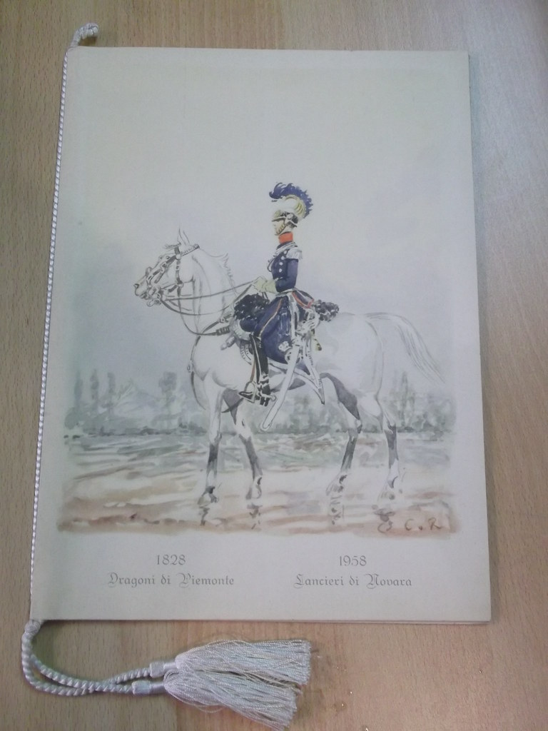 Calendario 1958.1958 Calendar Dragons Of Piedmont Of Lancers Novara 1958 Ebay