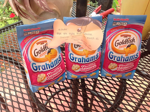Vanilla cupcake Goldfish from #pepperidgefarm