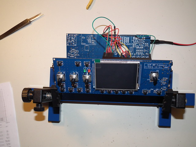 Test setup for programming the UI board