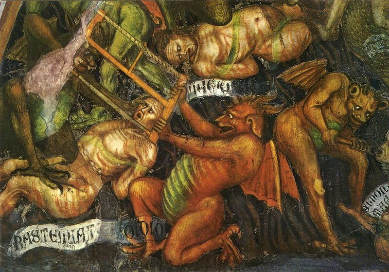Taddeo di Bartolo - The Last Judgment (detail of pride) c.1394