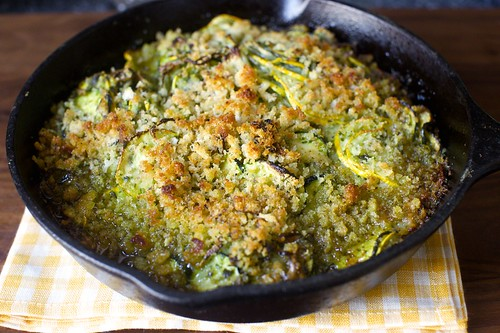 summer squash gratin with salsa verde | smitten kitchen