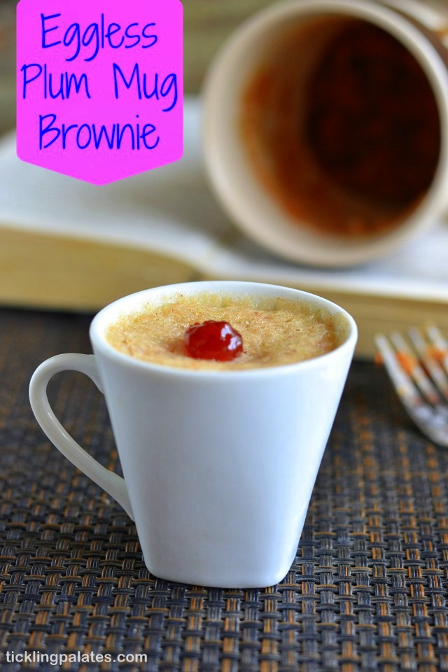 Eggless Plums Mug Brownie Recipe
