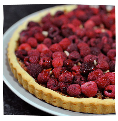 Raspberry and Apple Tart