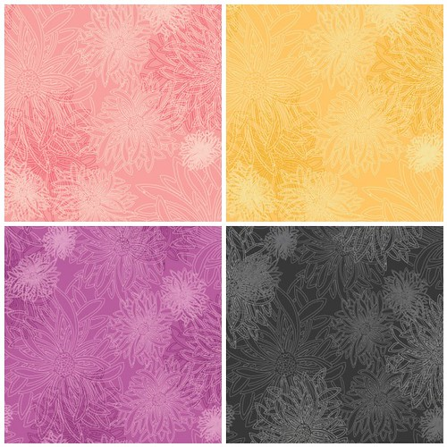 Geometric Bliss Coordinates - Floral Elements