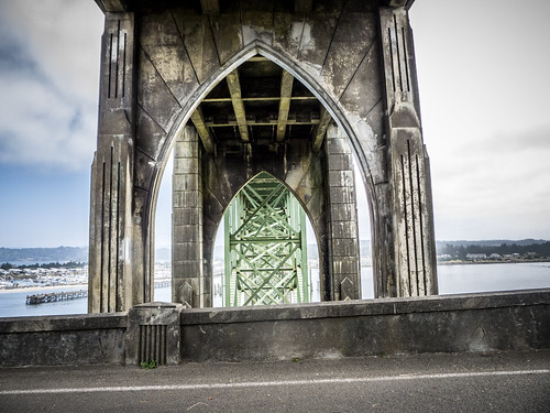 Yaquina Bay Bridge in Newport