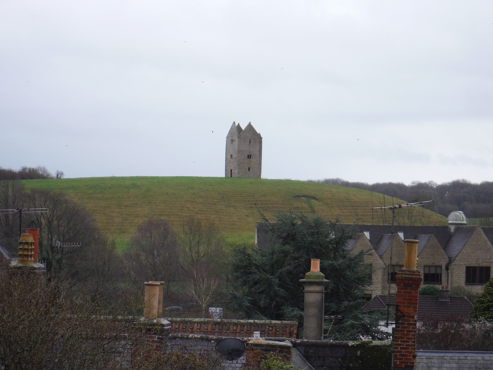Dovecote on Pillow Mound, Bruton, from St. Catherines Hill SWC Walk 284 Bruton Circular (via Hauser & Wirth Somerset) or from Castle Cary