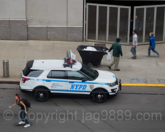 NYPD PBBX Police Car at Yankee Stadium, The Bronx, New York City
