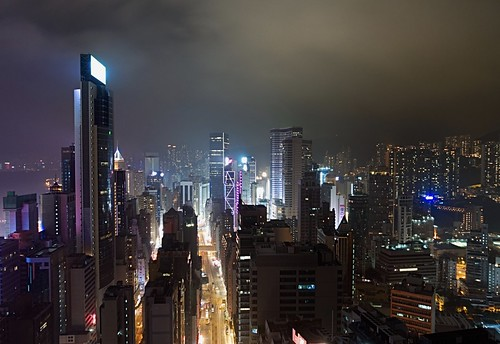 hongkong night wanchai lights march 2017 sony rx100m4 buildings wooloomooloobar
