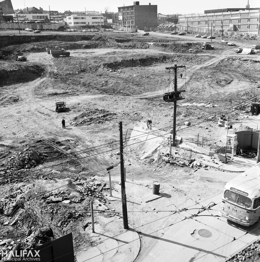 Scotia Square excavation site