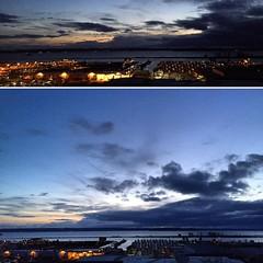 Top 8:36pm / Bottom 8:20pm #everett #sunset #everettsunsets #pnw #pnwonderland #maundythursday #holyweek #skies #portgardnerbay #liveineverett #whidbeyisland #lights #clouds #spring #weyerhaeuser #portofeverett