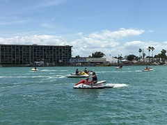 Jet skis with restrictive plates