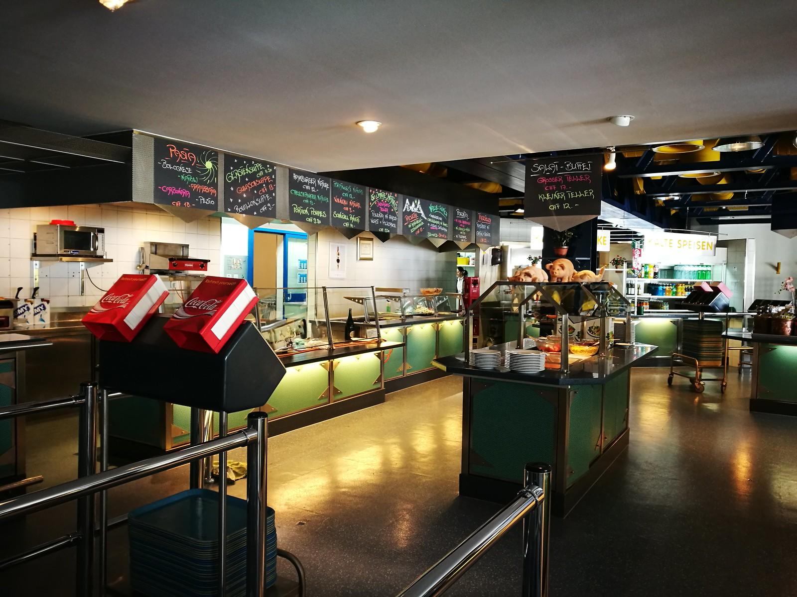 Cafeteria at Corviglia