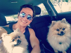 Hanging out with my 2 favorite bitches- Kiwi & Kika. #doglove