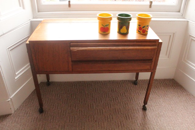 mid century sewing desk
