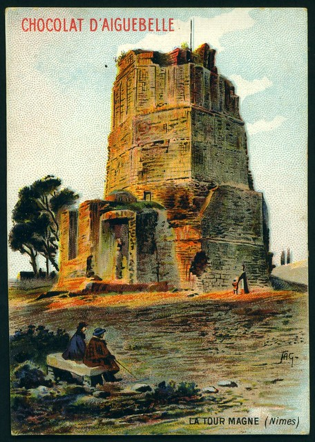 French Tradecard - La Tour Magne, Nimes
