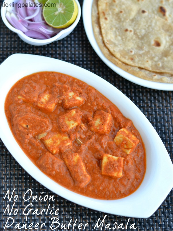 Paneer butter masala recipe easy paneer recipes no onion no no onion no garlic paneer butter masala forumfinder Choice Image