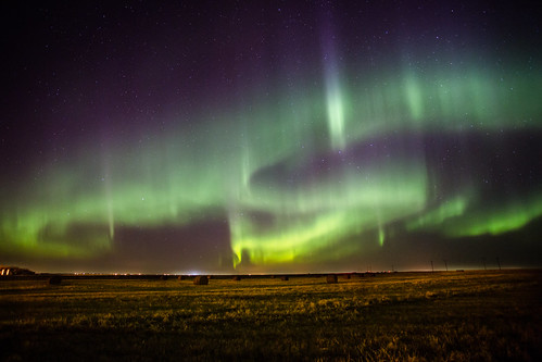 Aurora Curtains near Calgary