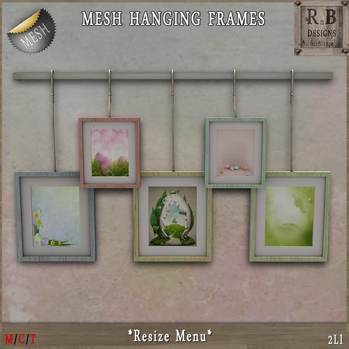 GIFT ! *RnB* Mesh Hanging Frames - Easter (resize)(np)