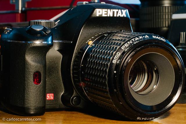 Pentax K-x con SMC-A Macro 100/4