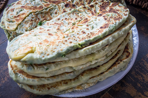 Flat Bread with Greens and Herbs