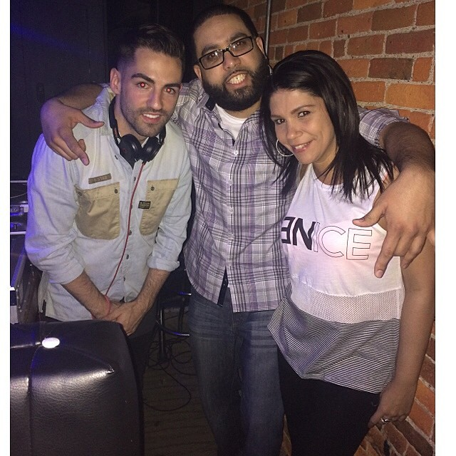 With my guys!! @djev @djflacoflash #rumor #cleveland #hennessyvs #party #lit