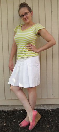 Yellow Striped Tee - After