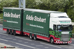 Scania R440 6x4 Curtainside with Drawbar Curtainside Trailer - PE61 AHG - M339 - Veronica Lilly - Eddie Stobart - M1 J10 Luton - Steven Gray - IMG_9211