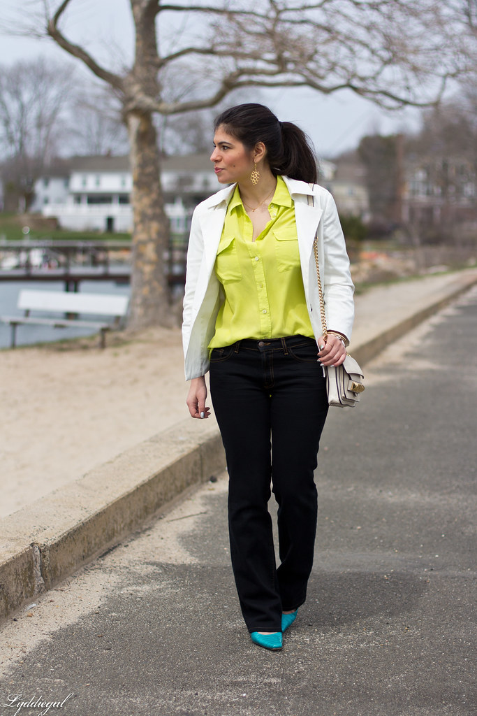 lime equipment blouse, white blazer-2.jpg