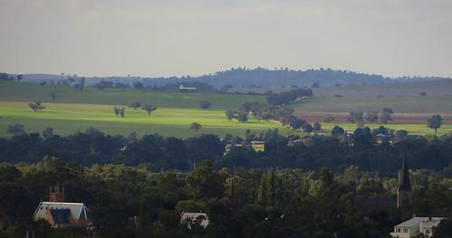 The Church spires of Wagga Wagga, NSW,  2014