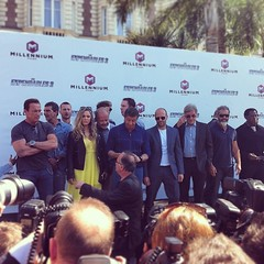The gangs all here #Expendables3 #Arnie #MelGibson #Stallone #HarrisonFord #WesleySnipes #DolphLundgren #JasonStatham #Cannes