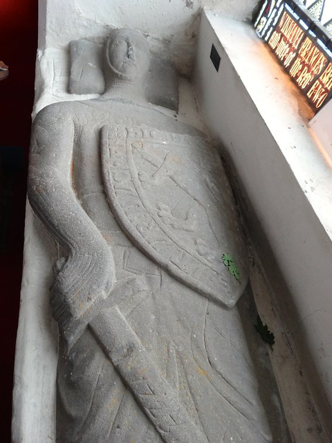 Effigy of Meurig Vychan in St Marys Church, Dolgellau
