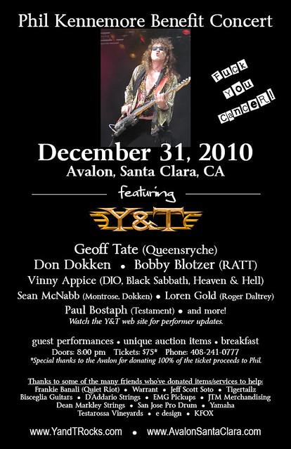 12/31/10 Phil Kennemore Benefit Concert @ Avalon, Santa Clara, CA