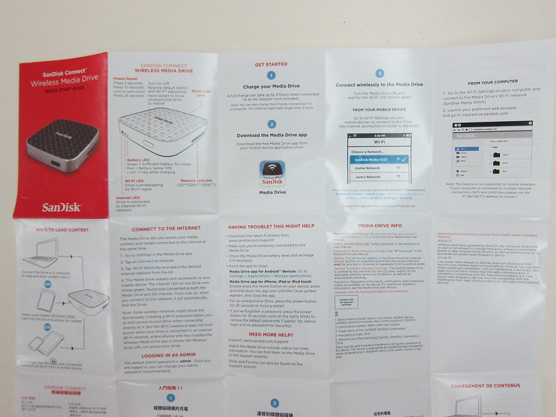 SanDisk Connect Wireless Media Drive - Instructions
