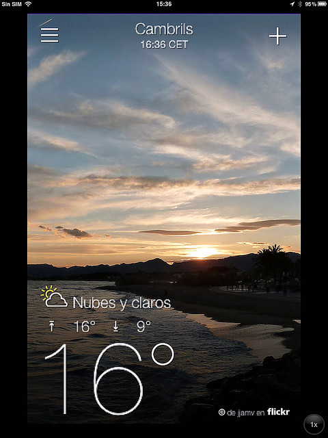 my mobile screenprint, Yahoo Weather © the forecast is beautiful