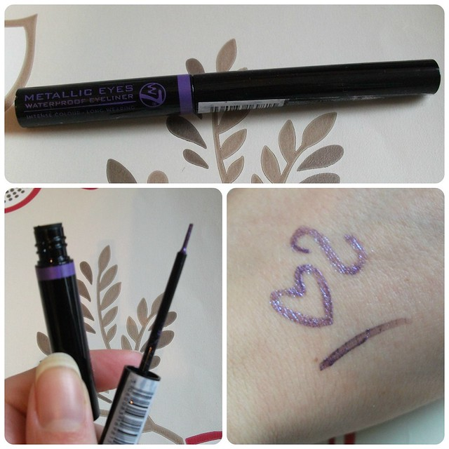 W7 Metallic Eyes Waterproof Eyeliner Cosmic Mauve